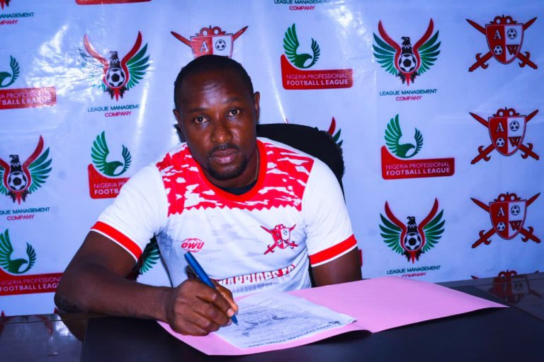 """""""Dream signing"""" Abia Warriors signed a new goalkeeper"""