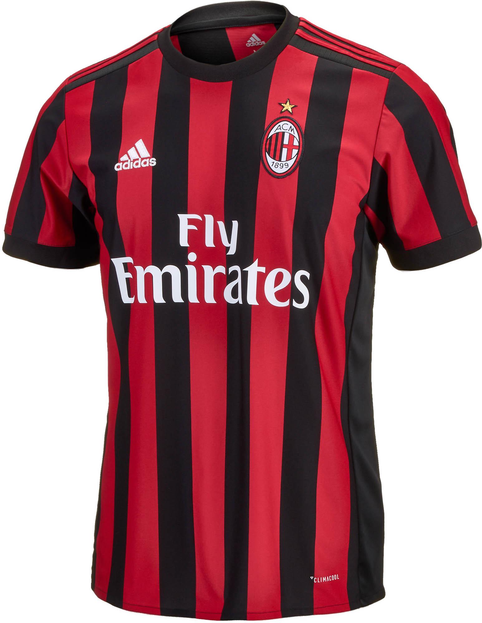 adidas AC Milan Home Jersey 201718  Soccer Master