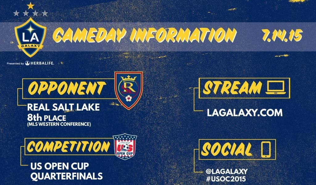 The Galaxy take on Real Salt Lake in U.S. open cup