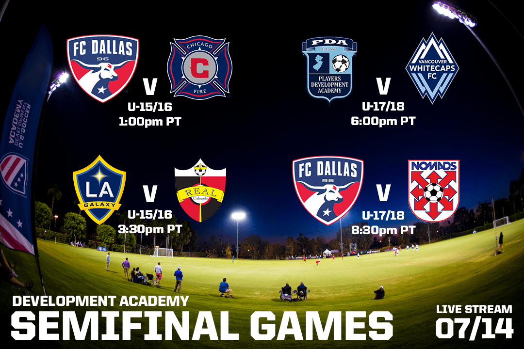 LA Galaxy U-15/16 & Nomads U-17/18 Advance To USSDA Semifinals
