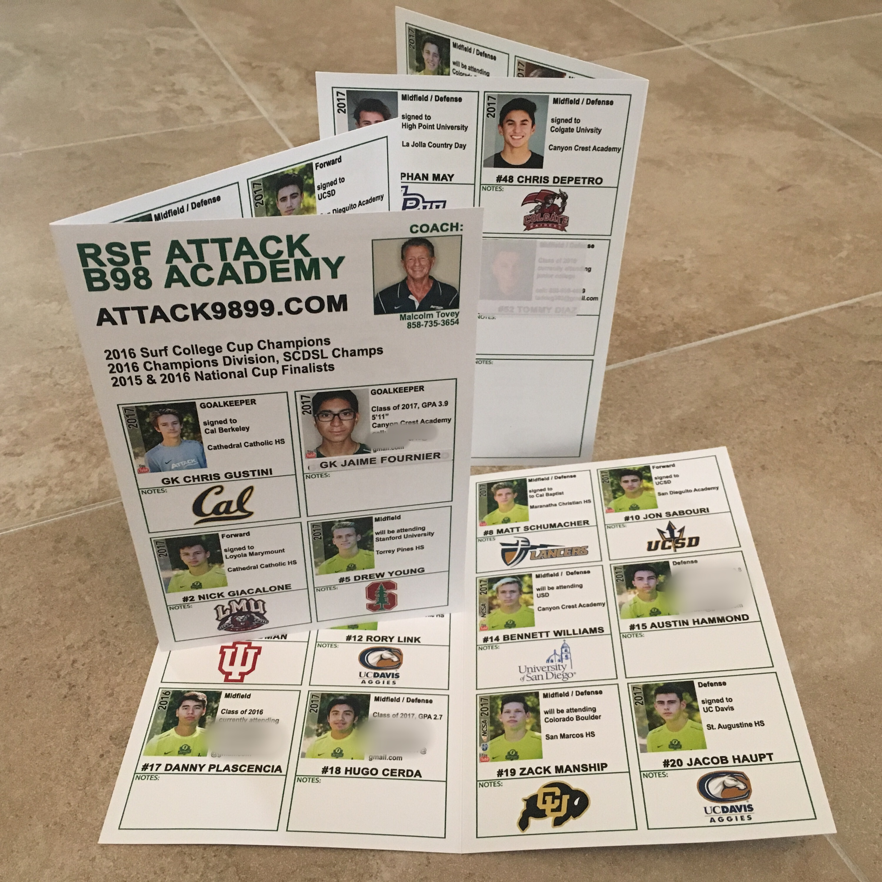 baseball brochure template - college showcases anatomy of the perfect recruiting flyer