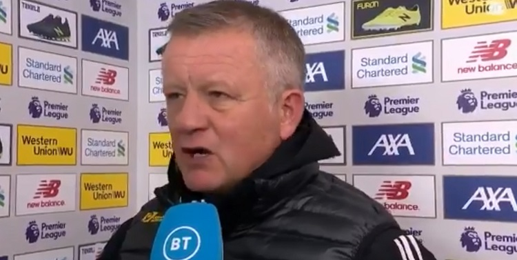 """""""I haven't had the sack for 20 years"""" – Sheffield United boss Chris Wilder has no fear over losing his job (Video)"""