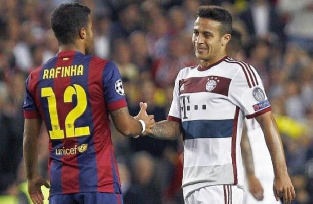 PSG wanted Thiago Alcantara but signed Rafinha instead