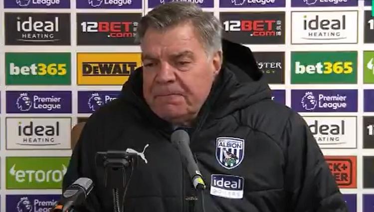 West Bromwich Albion boss Sam Allardyce questions players' dedication after Leeds defeat (Video)