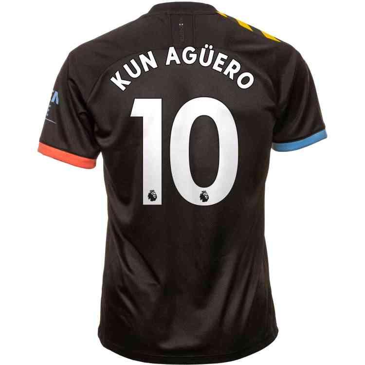 2019/20 PUMA Sergio Aguero Manchester City Away Jersey ...
