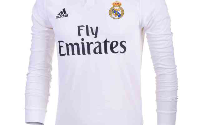 Adidas Real Madrid Home Authentic L S Jersey 2018 19