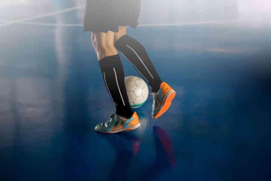 indoor futsal soccer player
