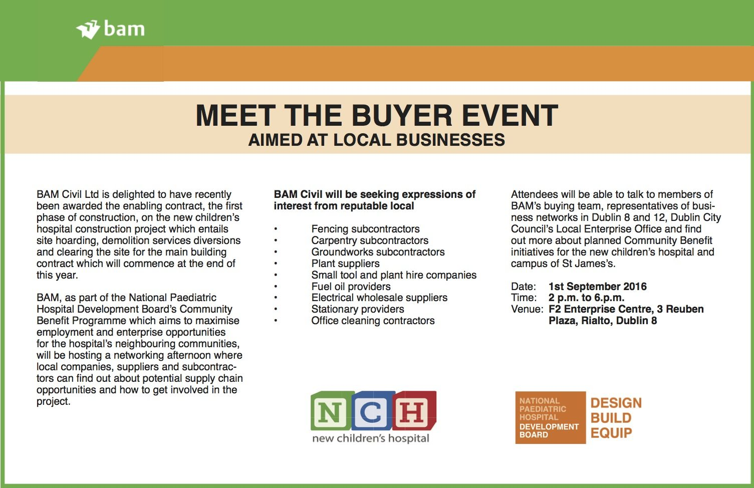 Meet the Buyer event for New Children's Hospital Announced - Socent ie