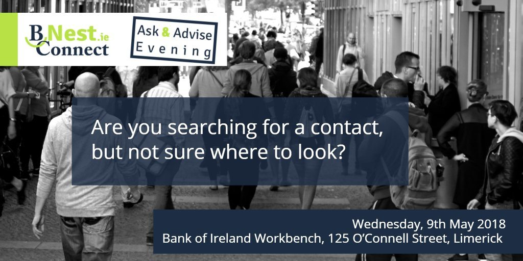 Limerick: BNest 9th May Ask & Advise
