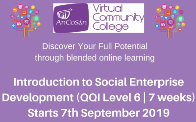 Certificate in Leadership and Social Enterprise (QQI Level 6) + An Cosán VCC 2019/2020 Programme Prospectus