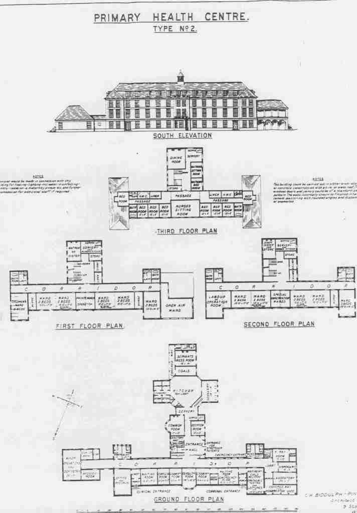 Large Primary Health Centre design 1920