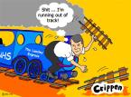 Lansley runs out of track