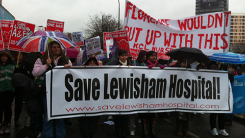 Save Lewisham Hospital Demonstration November 2012