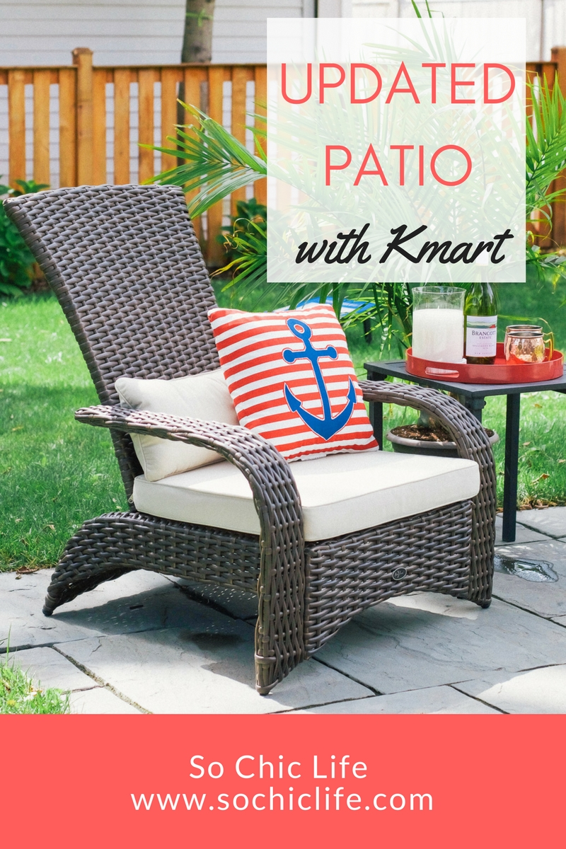 Update Patio with Kmart  So Chic Life