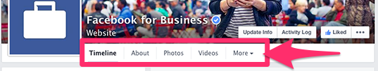 New Facebook Page Design remove tab thumbnail