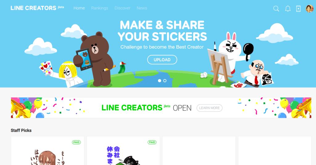 LINE เปิดตัว Linecreators.com ทุกสิ่งสำหรับนักออกแบบสติ๊กเกอร์