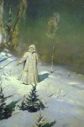 Снегурочка на лесной поляне
