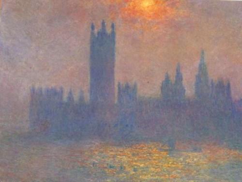 Лондон Парламент и река Темза на картине Клода Моне