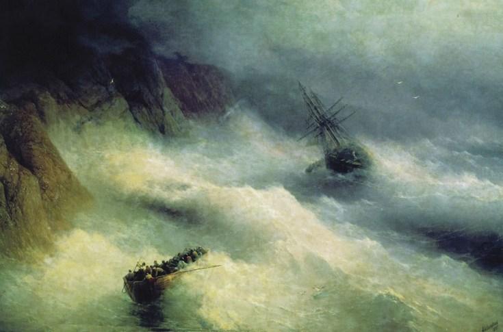 буря на море у мыса Айя