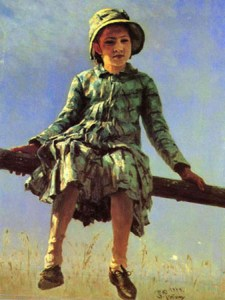 стрекоза- так Репин назвал свою дочь на картине