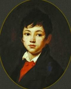портрет мальчика Челищева на картине Кипренского