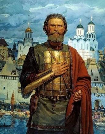 Дмитрий Донской на фоне кремля на картине Маторина