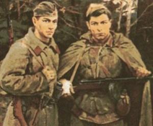 солдаты Сережка с Малой Бронной и Витька с Моховой на картине Н.Я.Бута