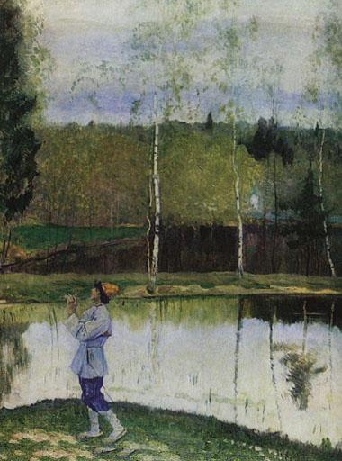 Лель играет на дудке, весна на картине Нестерова