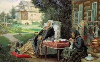 все в прошлом у двух старушек на картине Максимова