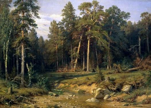 сосновый бор и мачтовый лес в Вятской губернии на картине Шишкина