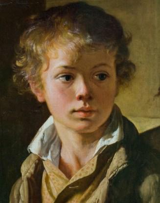 портрет сына художника на картине Тропинина