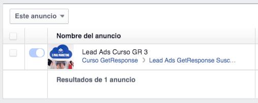 Facebook Lead Ads GetResponse