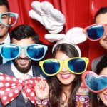 Sami & Kieran's wedding reception photo booth