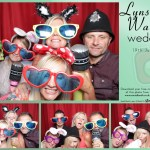 Lynsey and Wayne's wedding reception photo booth