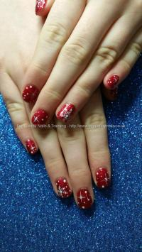 Social Build - Gel 21 Red Wine Gel Polish With Freehand ...