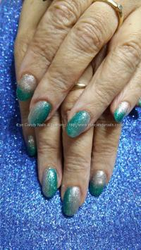 Dev Guy - Teal And Silver Ombre Fade. Nail Technician ...