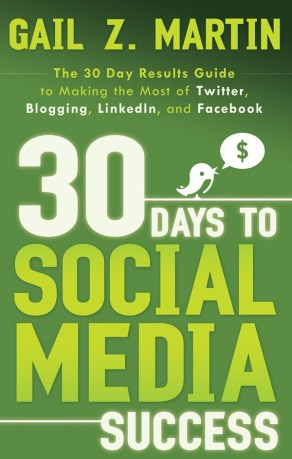 "Gail's bestselling book - ""30 Days to Social Media Success"""