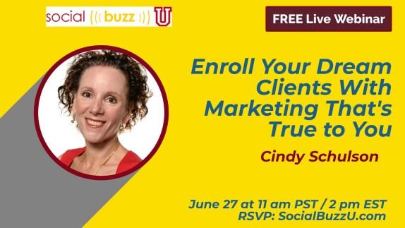 Cindy Schulson marketing training