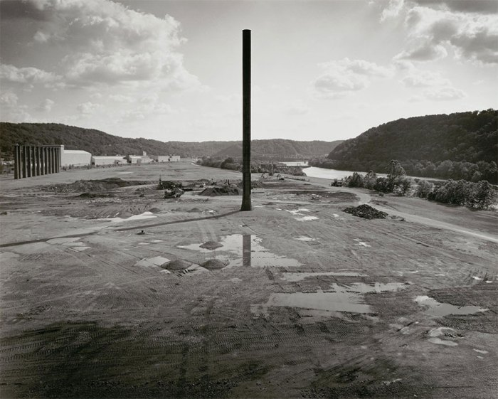 Last Smokestacks at the Homestead Works, c. 1995, by Charlee Brodsky