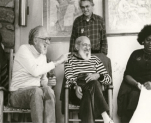 Myles Horton and Paulo Freire at the Highlander Folk School, 1987