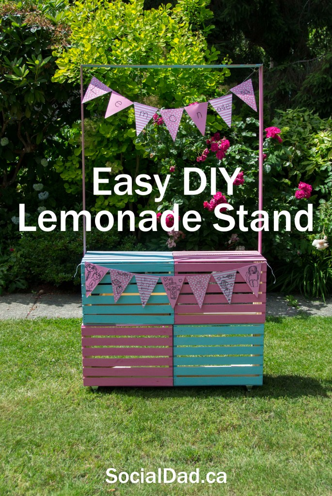 DIY Lemonade Stand, how to make a lemonade stand, home depot, home depot canada, lemonade stand plans, blueprints, easy diy,