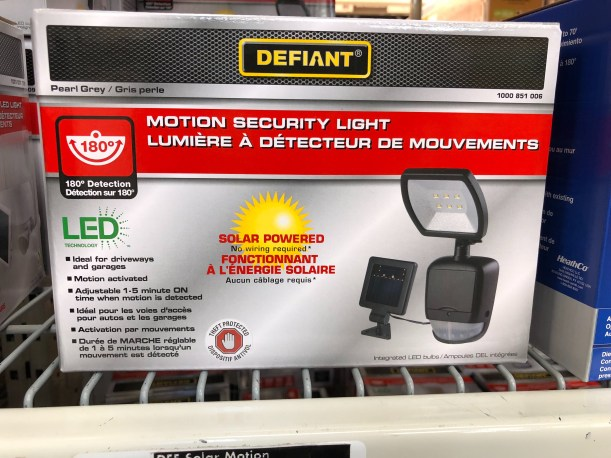 motion detector, home depot, home depot canada, solar powered lights, which motion detecting lights? security lights, socialdad, vancouver dad, vancouver blog, canada dad blog, canadian dad, socialdad.ca,