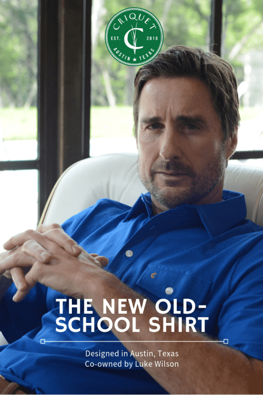 Luke Wilson, men's fashion, style guide for men, mens fashion, cricket shirts, criquet shirt, golf clothing, golf shirts, comfy shirts for golf, Luke Wilson actor, dad style,