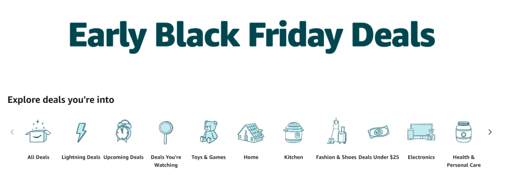 early black friday deals, black friday deals, amazon canada black friday, cyber monday deals online, amazon.ca deals, promo deals,