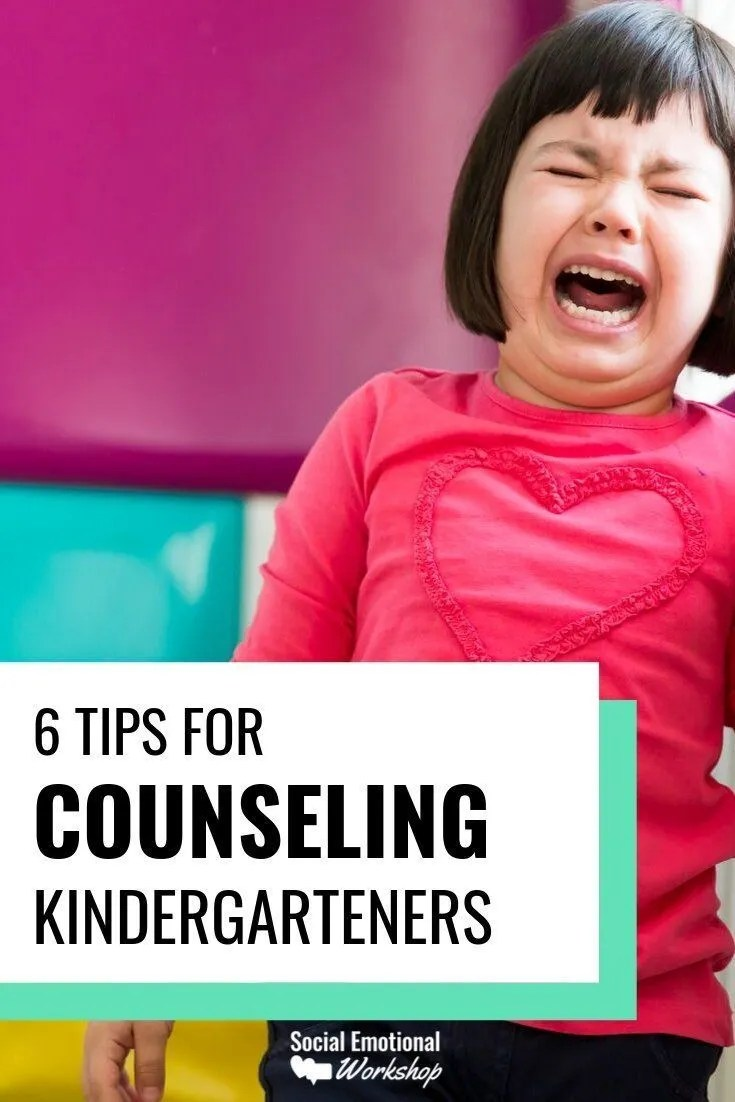 Counseling kindergarteners can be challenging. These 6 simple tips will help you keep kindergarteners engaged and progressing in counseling. Incorporate routines, movement, visuals, books, games, and simple session plans.