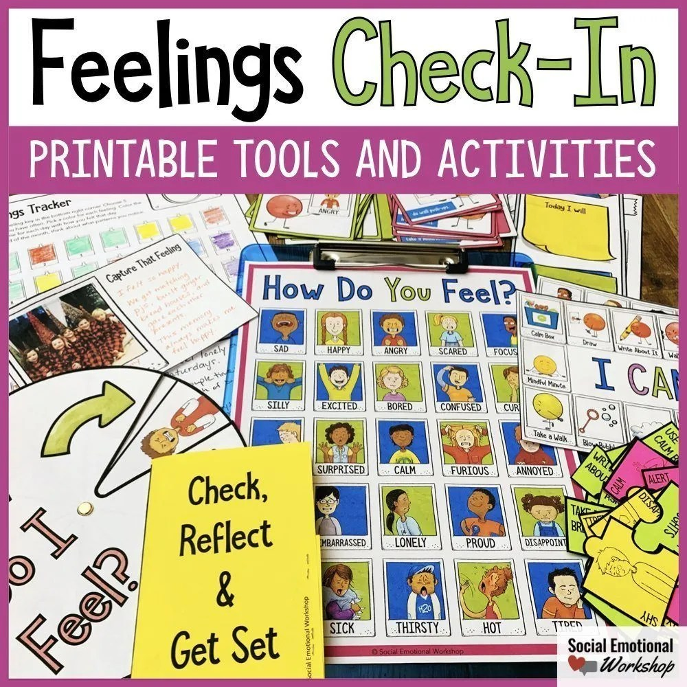 Feelings Check-In Printable Tools and Activities