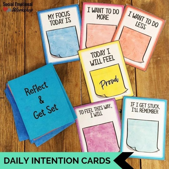 Daily intention cards