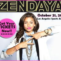 Zendaya Coleman Performing At The Los Angeles Sports Arena On October 21, 2012 To Benefit Operation Smile