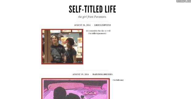 self-titled life