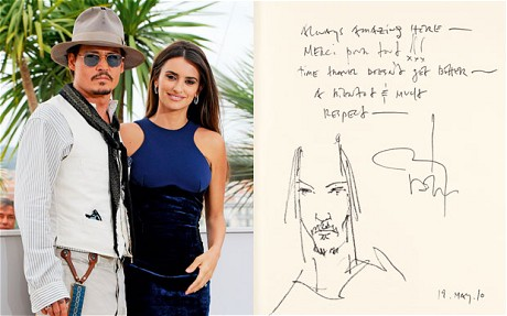 Johnny Depp Left a Self Portrait